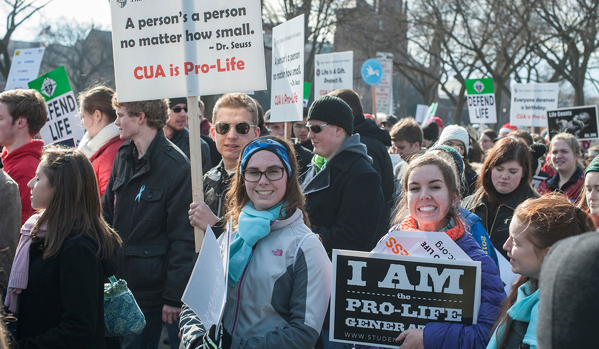 Students at March for Life