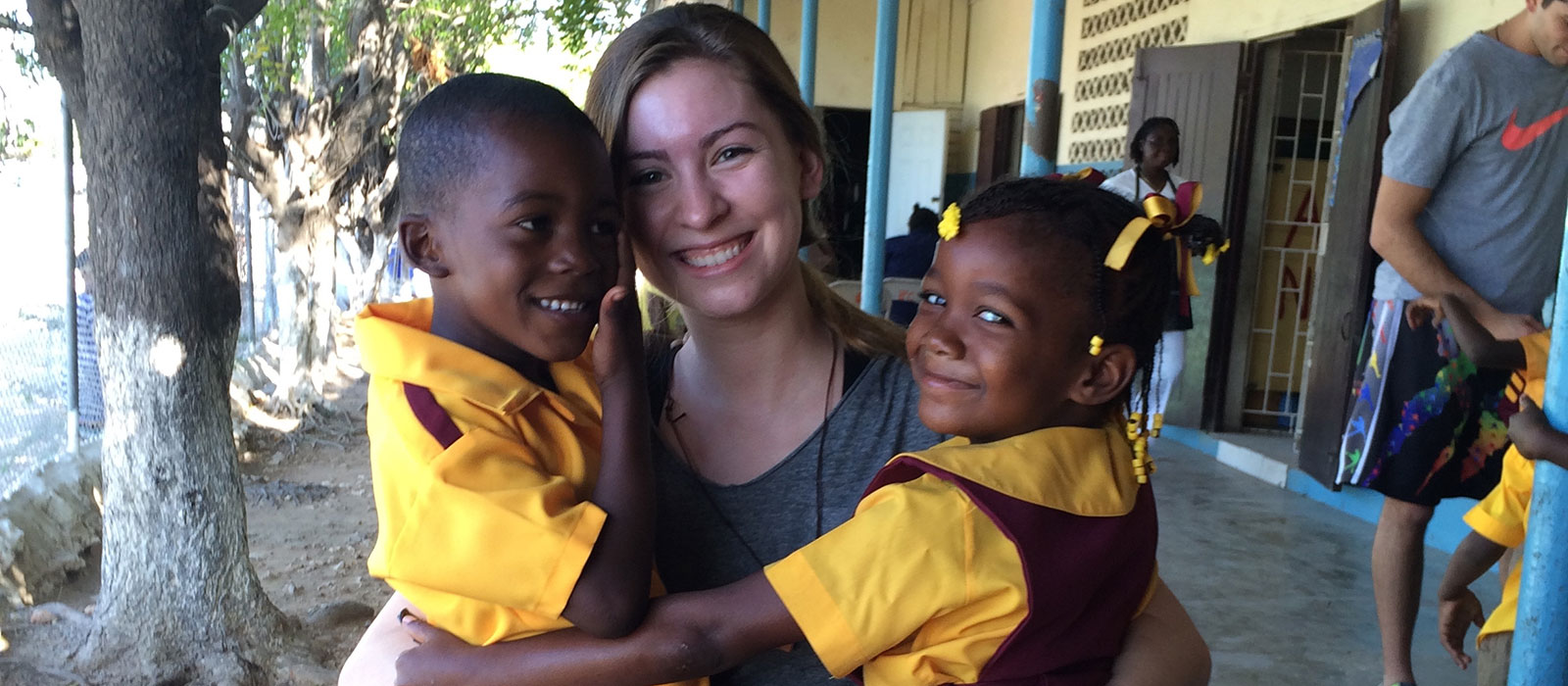 Student on mission trip in Jamaica
