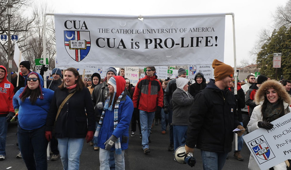 Students at the march for life