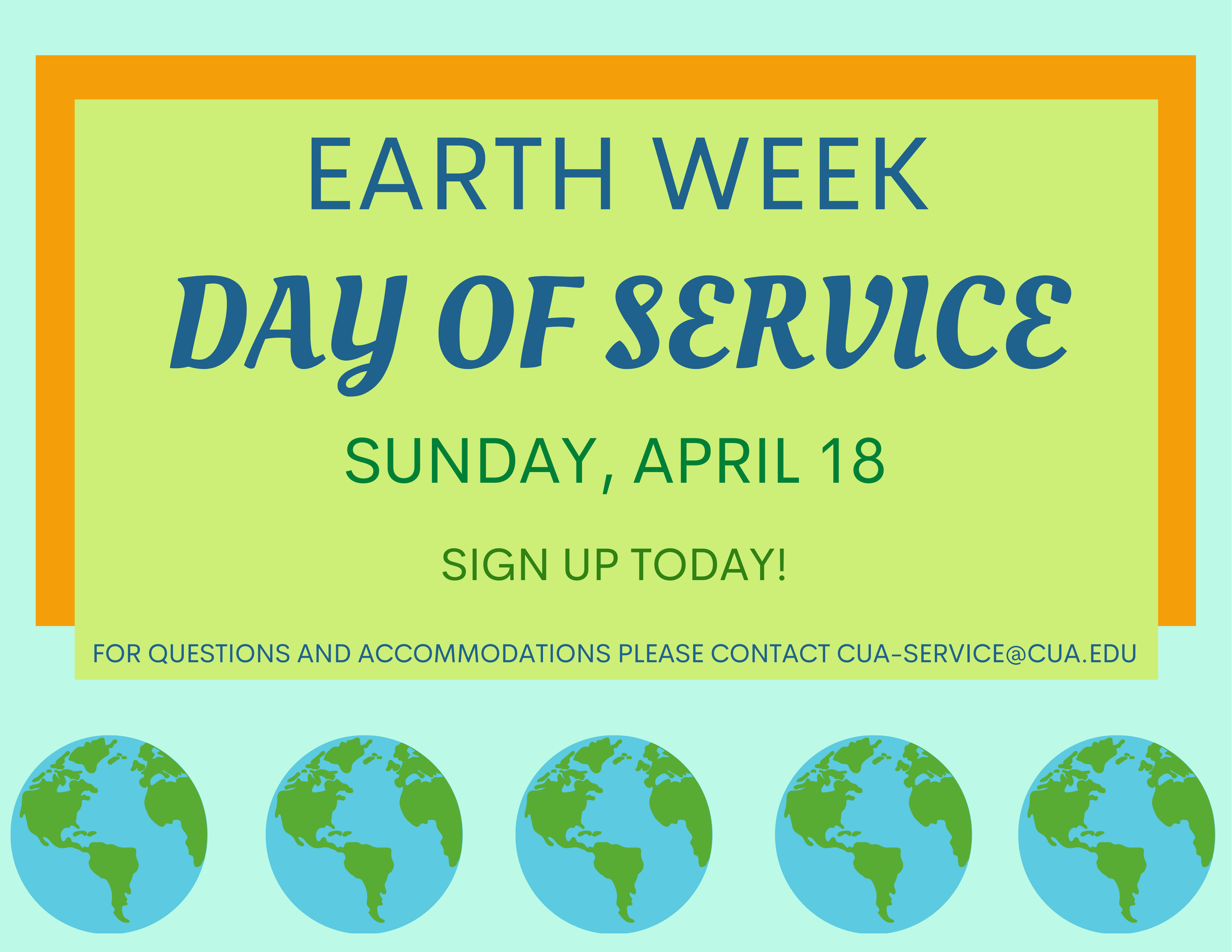 Earth Week's Day of Service